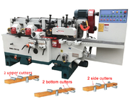 China Simple and Economical Four Side Planer Machine SMB-4018 four Sides moulder for wooden floor factory