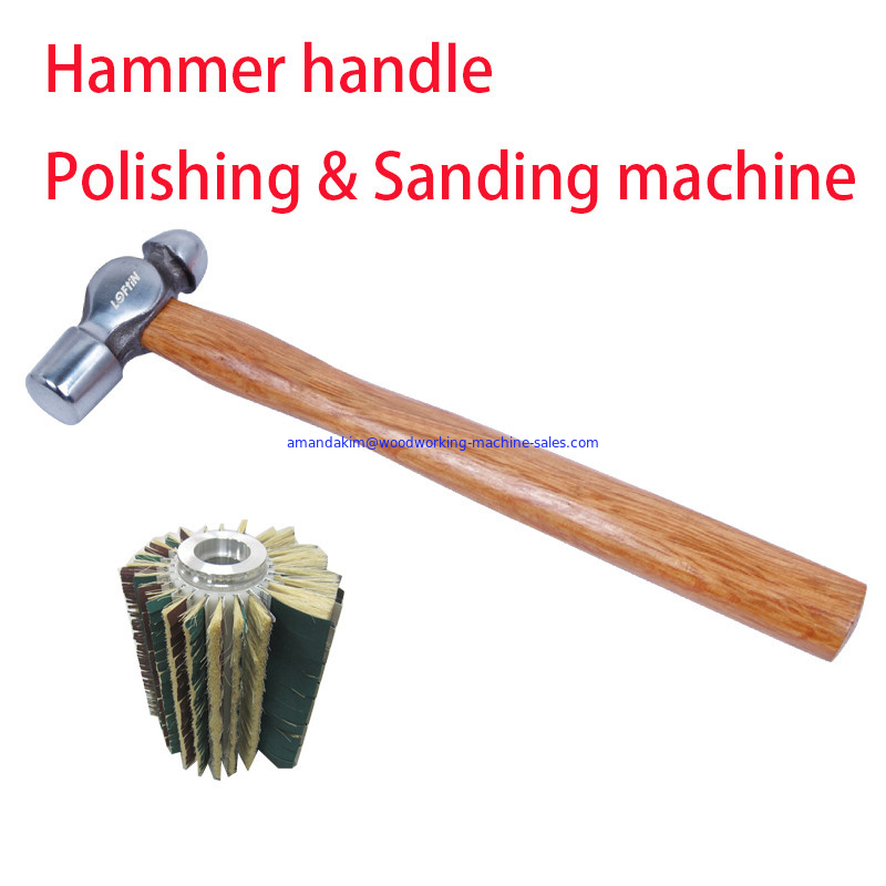 Hammer handle polishing and sanding machine