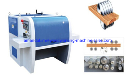 Multi saw blades Wood block cutting machine