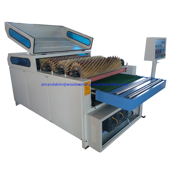 Sandpaper rollers polishing machine for engraved panel surface board before after paint and varnish