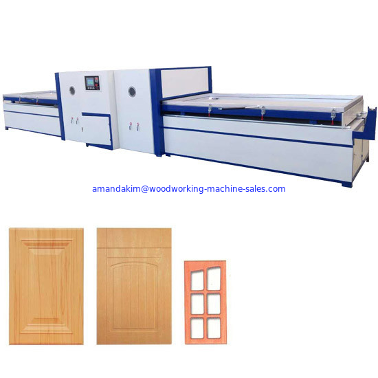 PVC film MDF door skin full automatic vacuum membrane press machine