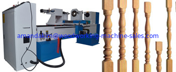Computer control cnc wood lathe machines with max. working length 1500mm max.working diameter 300mm