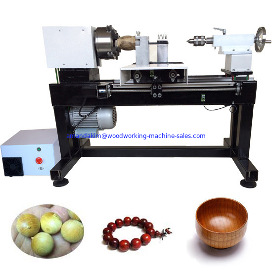 Full automatic single spindle cnc mini wood lathe wooden beads making machine