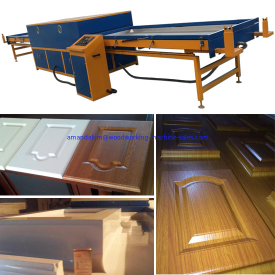 MDF laminate cabinet door PVC film vacuum membrane press machine
