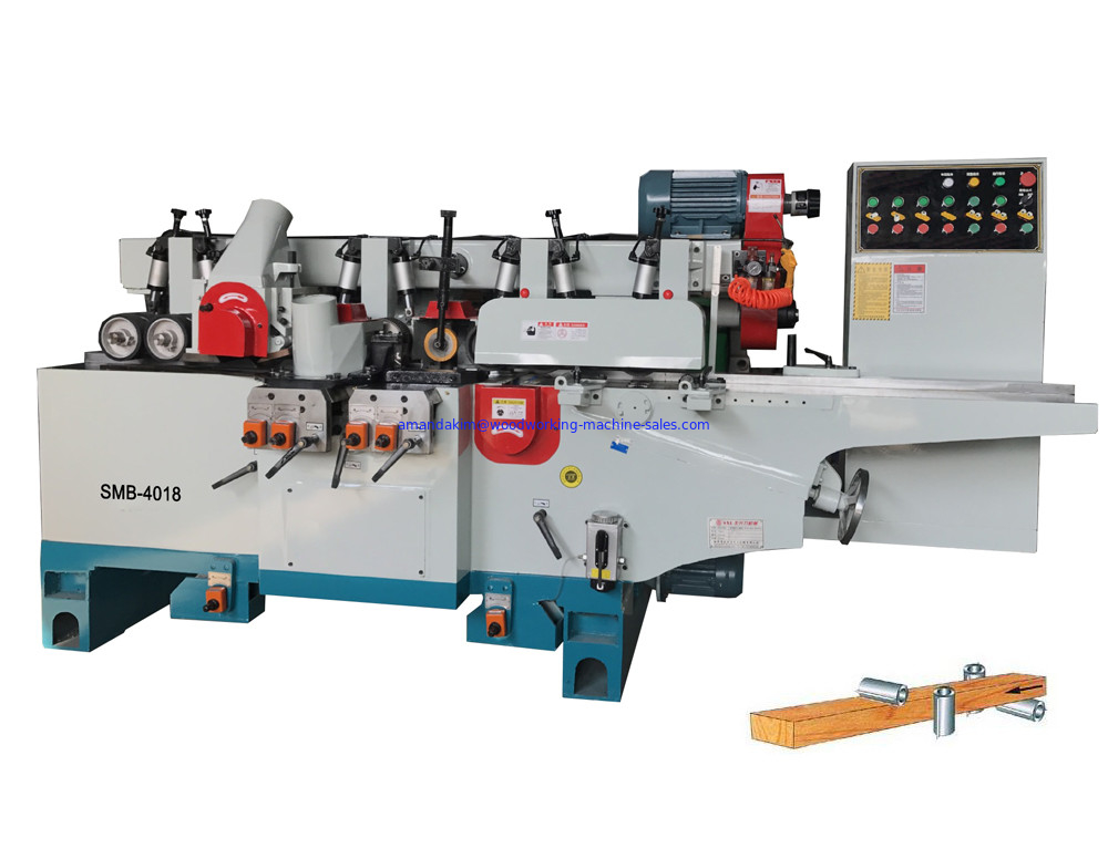 4 sided wood profile shaper machine