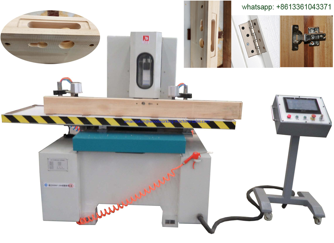 wood door hinge mortiser key mortiser door lock hole making machine CNC mortiser side hole mortiser drilling machine