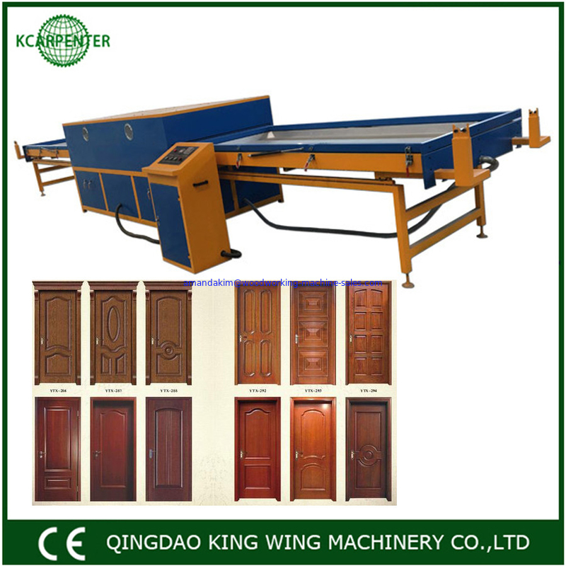 Vacuum press machine for PVC film door