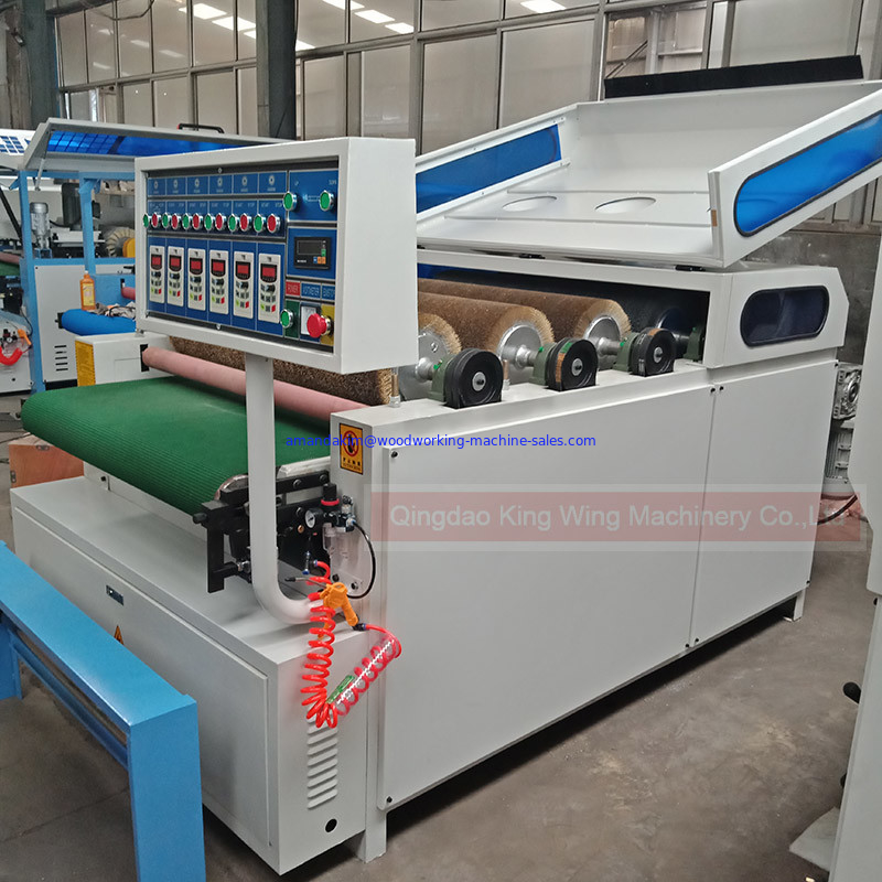 KC1000-5P floor wood grain making machine with wire brush rollers and dupont brush roller