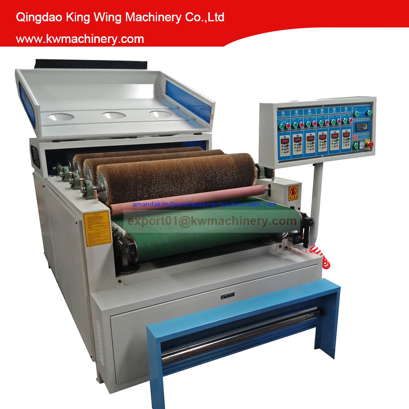 Carbonized wood wire brush drawing machine