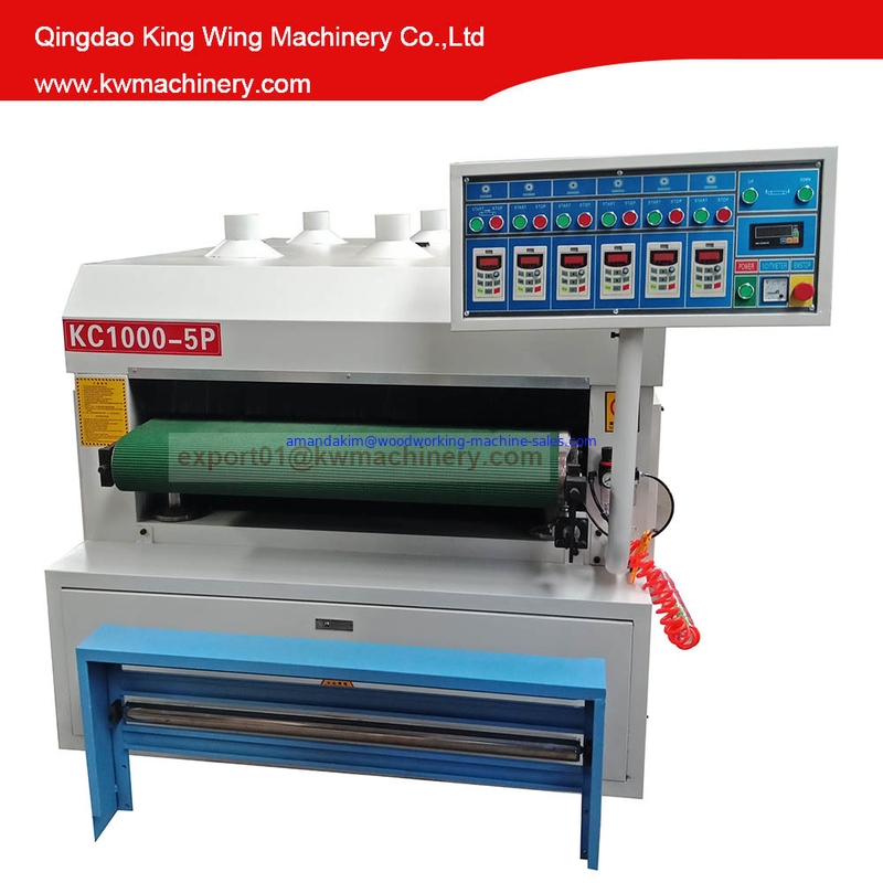 Surface carbonized wood board wire brush drawing machine