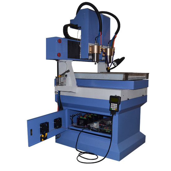 Granite marble stone cnc router machine with smaller worktable and 2 heads