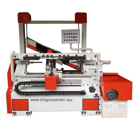 Automatic back knife wood lathe machine for drumsticks baseball bat