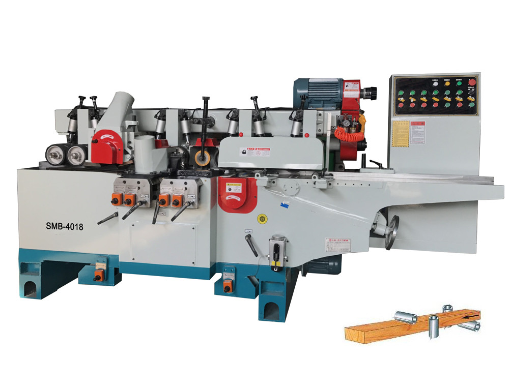 4 spindles woodworking four side moulder woodworking machines with CE