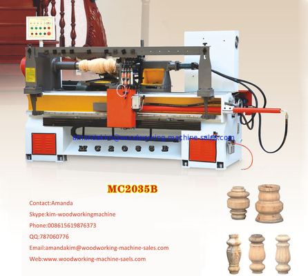 China MC2035B semi-automatic big diameter cnc wood lathe machine factory