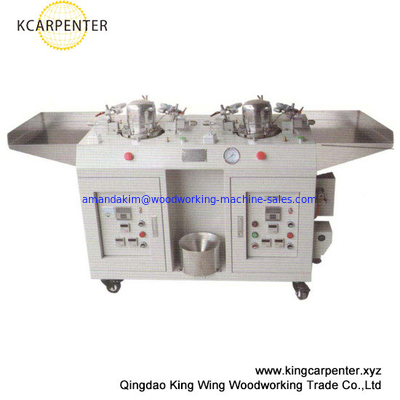 China double heads cap shaping machine heating by steam distributor