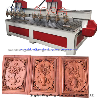 China Customized big worktable size cnc wood router machine with 10 spindles factory