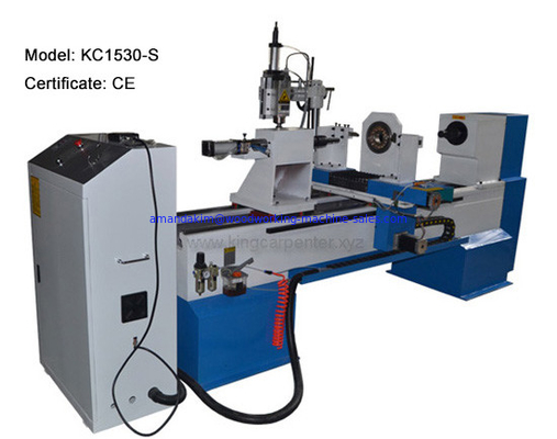 China Cast iron strong body CNC wood turning lathe machine max. working diameter 300mm max. working length customized factory