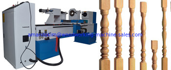 China Computer control cnc wood lathe machines with max. working length 1500mm max.working diameter 300mm factory