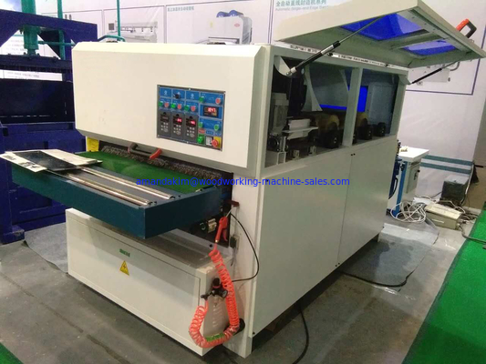 Max. working width 1000mm 9 discs sanding brush and 3 sanding rollers cabinet sanding machine