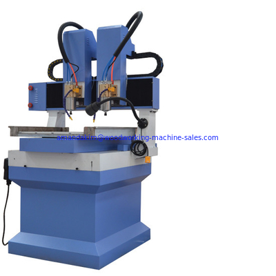 China Multi heads small worktable size 400*400 cnc router machine for marble stone engraving and carving distributor