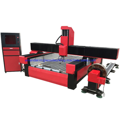 China Stone cnc router marble carving machine with worktable size 1300*2500mm KC1325S distributor