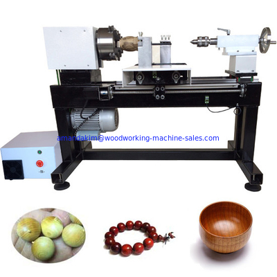 China Full automatic single spindle cnc mini wood lathe wooden beads making machine distributor