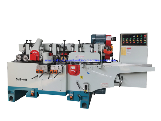 China 4 sides surface planner solid wood spindle moulder with 6 spindles max. working width 230mm and dust hood distributor