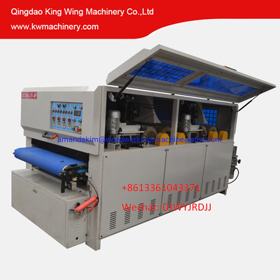 China KC1000-2YP-4R 18 discs sanding brush 4 long sanding roller sanding machine distributor