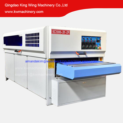 China KC1000-3YP-2R Solid wood door disc brush roller brush sanding machine MDF cabinet sanding machine for wood distributor