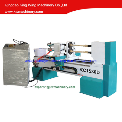 China cnc wood lathe double turning spindle cnc wood lathe factory