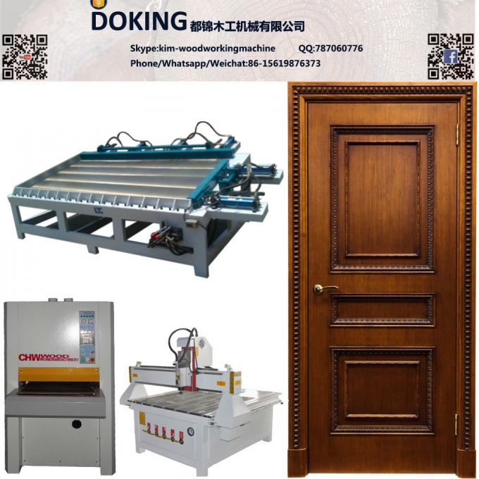 Solid Wooden Door Production Line Wood Door Making Machines