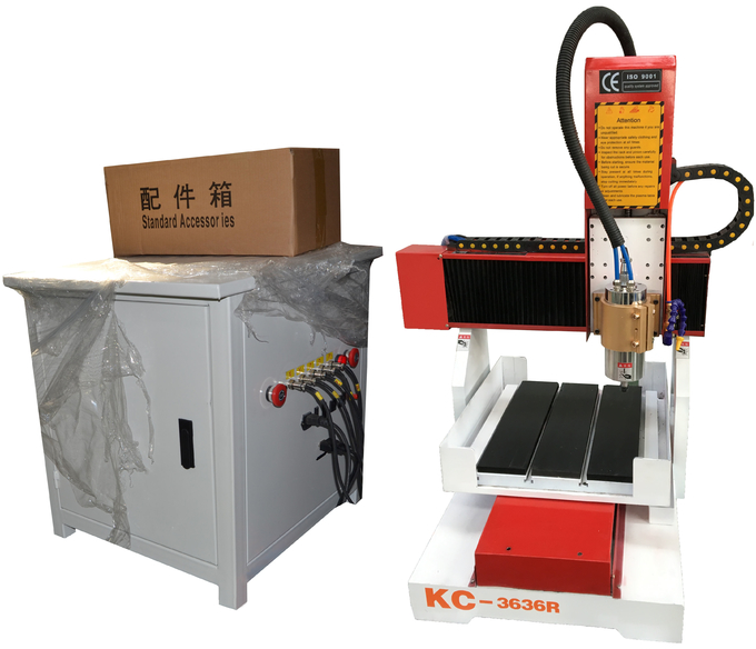 DIY 3636 CNC router with lathe rotary 4th axis for wood stone metal