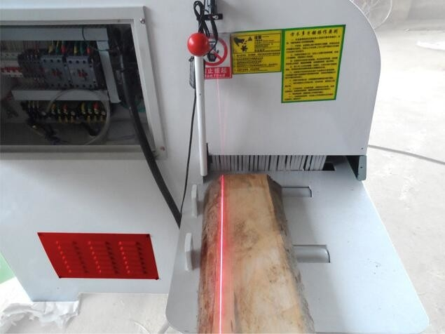 Wood block multi saw baldes machine cut wood block into thin pieces working thickness from 30mm to 250mm