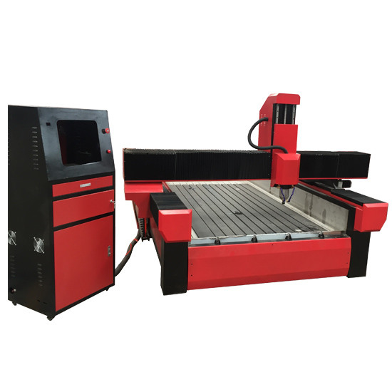 Stone engraving cnc router machine with worktable size 1300*2500mm and turning rotary KC1325R-S